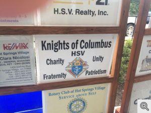 Logo acknowledging HSV Knights of Columbus as a Junior Golf sponsor.